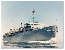 USS L. Y. SPEAR (AS-36) underway