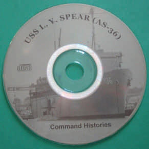 USS L. Y. SPEAR Command Histories CD